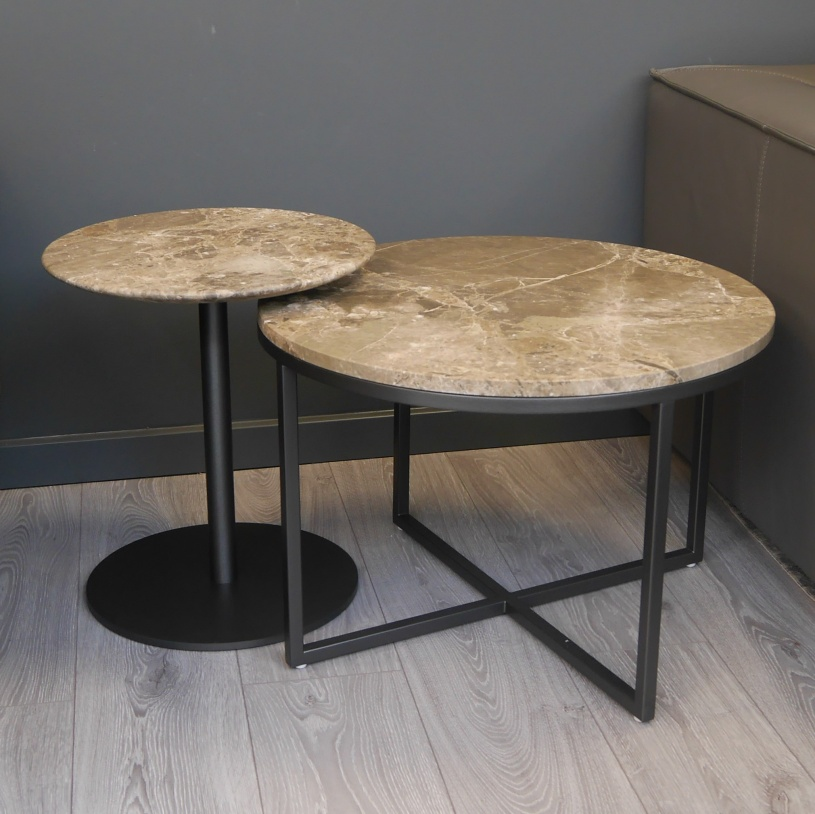 Buy Online Marble Top Coffee Table: Ex-Display: Porto/Opera Set Of 2 Marble Tables